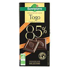 Tablette de Chocolat Noir 85% 80g Bio