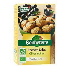 Rochers salés d'Olives noires 90g Bio