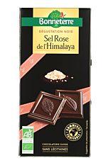 Tablette de Chocolat Noir au Sel rose d'Himalaya 80g Bio