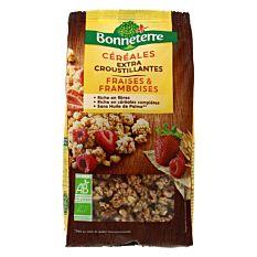 Céréales croustillantes fraises et framboises 375g Bio