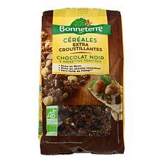 Céréales croustillantes chocolat noir noisettes 375g Bio