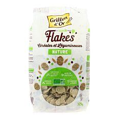 Flakes céréales légumineuses nature 325g Bio