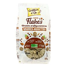 Flakes amandes et noisettes 325g Bio