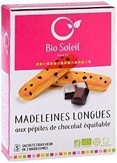 Madeleines longues aux pépites de chocolat équitable 165G Bio