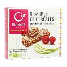 Barres Pomme Framboise 6X21G Bio