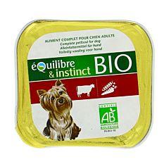 Barquette au bœuf pour chien 150G Bio