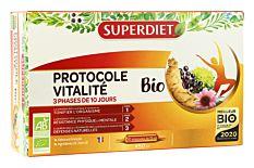 Protocole vitalité - 30 ampoules de 15Ml Bio