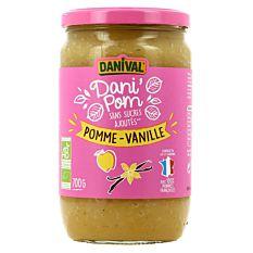 Puree Pomme Vanill 700G Bio