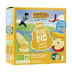 Pokibio Pomme Banane 4x90g Bio