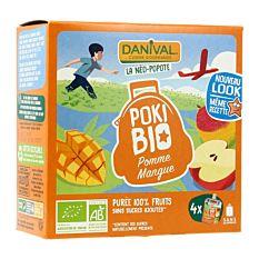 Pokibio Pomme & Mangue 4x90g Bio