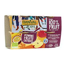 Purée de Pomme Fruits Exotiques 4x100g Bio