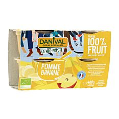 Dessert Pom Banane 4X100G Bio