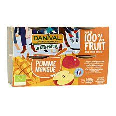 Dessert Pomme Mangue 4X100G Bio
