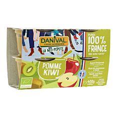 Dessert Pom Kiwi 4X100G Bio