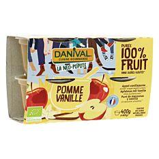 Purée de Pomme Vanille 4x100g Bio