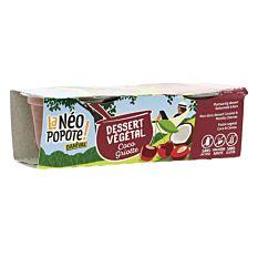 Dessert végétal Coco et Cerise griotte 2x100g Bio