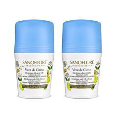 LOT*2 Vent de citrus déodorant purifiant efficacité 24h 2x50ml Bio