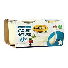 Yaourt Nature Au Lait Maigre 0% 4x125g Bio