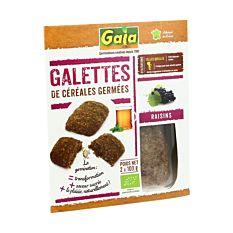 Galettes Essènes Aux Raisins 2x100g Bio