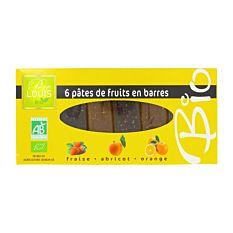 6 pâtes de fruits en barre 180g Bio