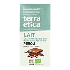 Chocolat au Lait Pérou 47% 100g Bio