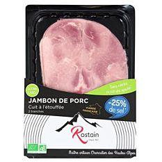 Jambon cuit sans nitrite -25% de sel 160G Bio