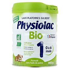 Lait pour nourrissons 0 à 6 mois 800g Bio