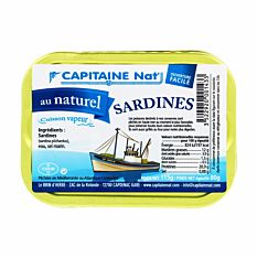 Sardines Naturel 115G