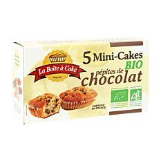 5 Mini Cakes aux pépites de chocolat 175g Bio
