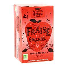Infusion fraise & gingembre x16 sachets Bio