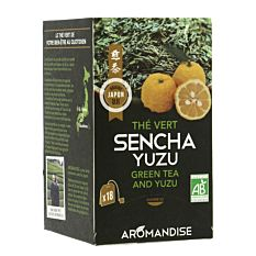 Thé vert sencha yuzu 18 infusions Bio