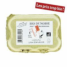 Oeufs Frais Cal 43/53 X6 Bio