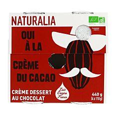 Crème chocolat 4x110G Bio