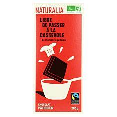 Chocolat noir pâtissier 56% 200G Bio