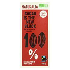 Chocolat Noir 100% cacao 100g Bio