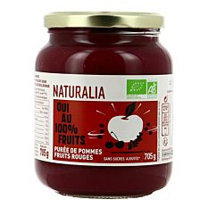 Purée de Pommes et fruits rouges 705g Bio