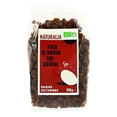 Raisins secs sultanines 500g Bio
