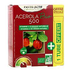 Acérola 500 + 1 tube offert - 24 comprimés Bio