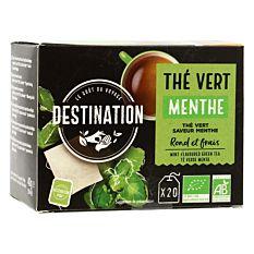 Thé Vert De Ceylan à La Menthe - 20 Sachets Bio