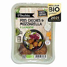 Bouchées pois chiches & mozzarella 180g Bio