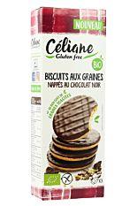 Biscuits sablés nappés chocolat noir 150g Bio