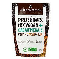Protéines mix vegan Cacao'mega 3  200g Bio