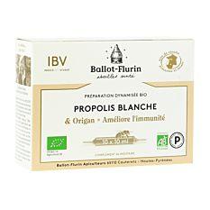 Préparation Propolis blanche 10 ampoules Bio