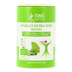 Ginkgo extra fort Bacopa - 80 gélules