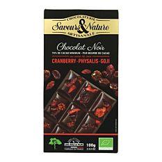 Chocolat Noir aux Superfruits 100g Bio