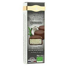 Bouchées Coco & chocolat au lait 45G Bio