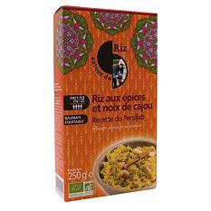 Riz aux épices et noix de cajou Pendjab 250G Bio