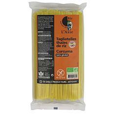 Tagliatelles thaïes de riz au curcuma sans gluten 400G Bio