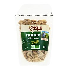 Cacahuètes grillées salées 200g Bio