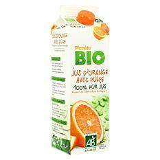 Jus d'orange avec pulpe 1L Bio
